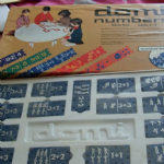 Educational Toys picture + Numbered interlocking Dominoes domi numbers vintage @SOLD@